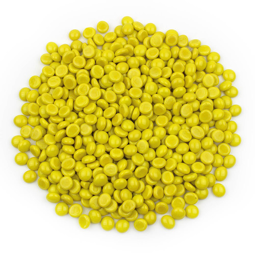 Mini Glass Gems - Yellow Opaque