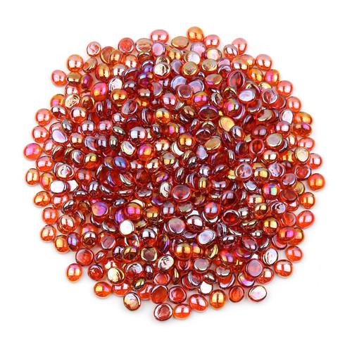 Mini Glass Gems - Orange Luster