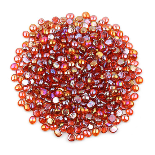 Mini Glass Gems - Orange Luster
