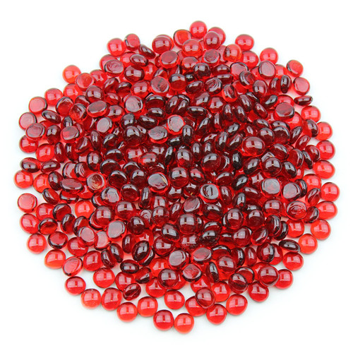 Mini Glass Gems - Red