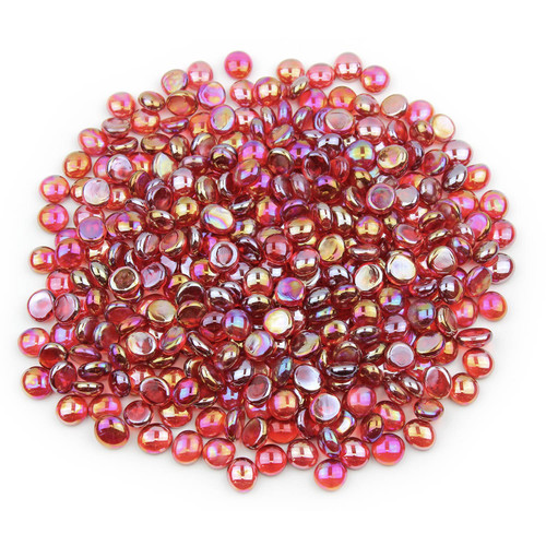 Mini Glass Gems - Red Luster