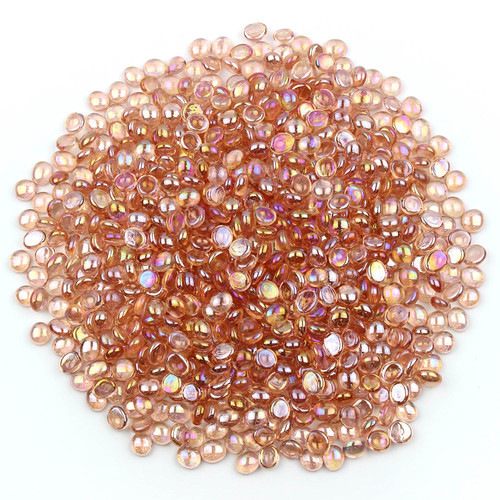 Mini Glass Gems - Quartz Pink Luster