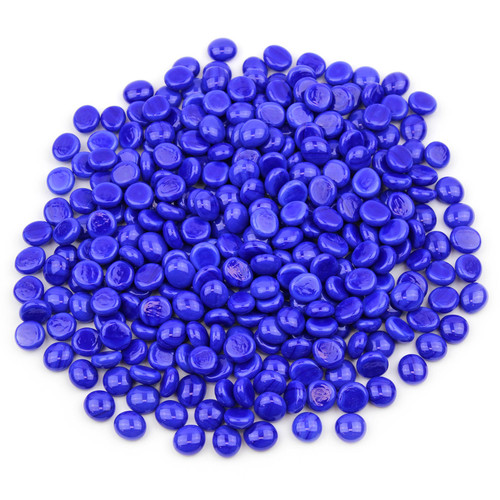 Mini Glass Gems - Sapphire Blue Opaque