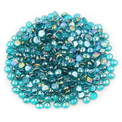 Mini Glass Gems - Teal Luster
