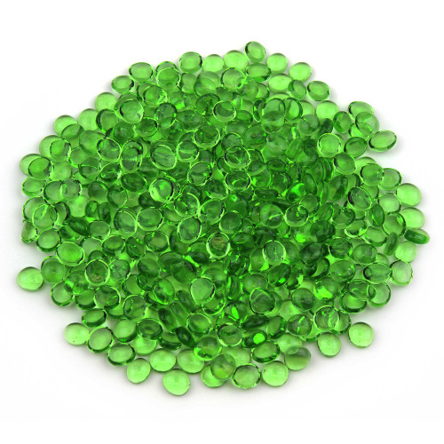 Mini Glass Gems - Green