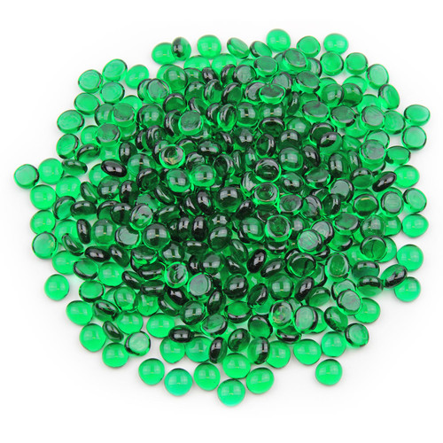 Mini Glass Gems - Emerald Green