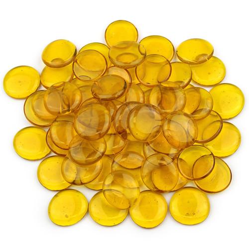 Large Glass Gems - Yellow