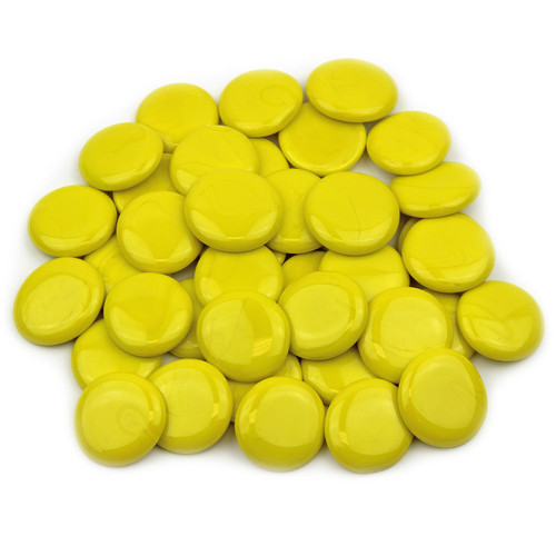 Large Glass Gems - Yellow Opaque