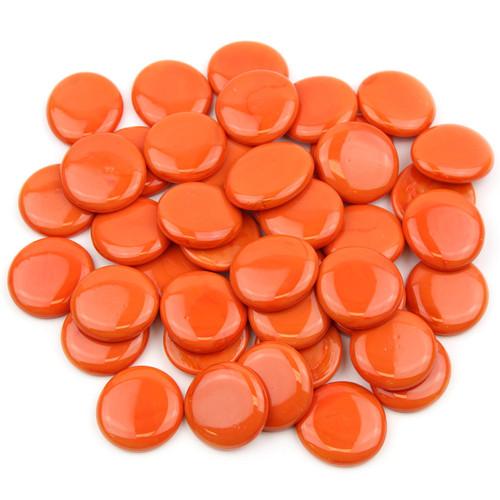 Large Glass Gems - Orange Opaque