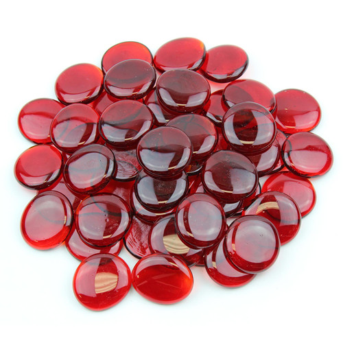 Large Glass Gems - Red