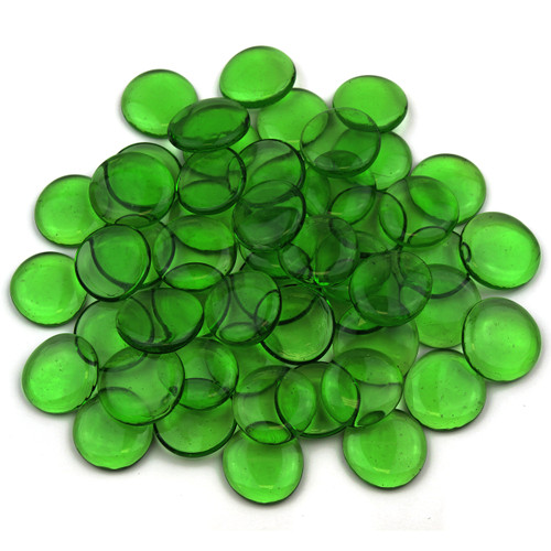 Large Glass Gems - Green