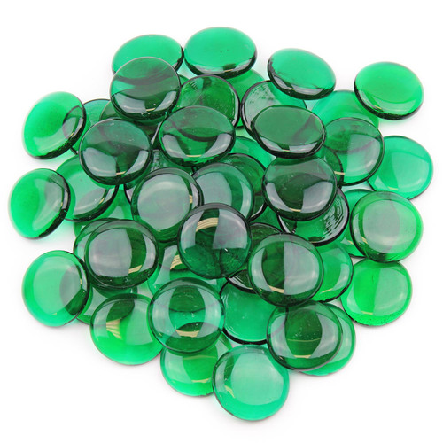 Large Glass Gems - Emerald Green