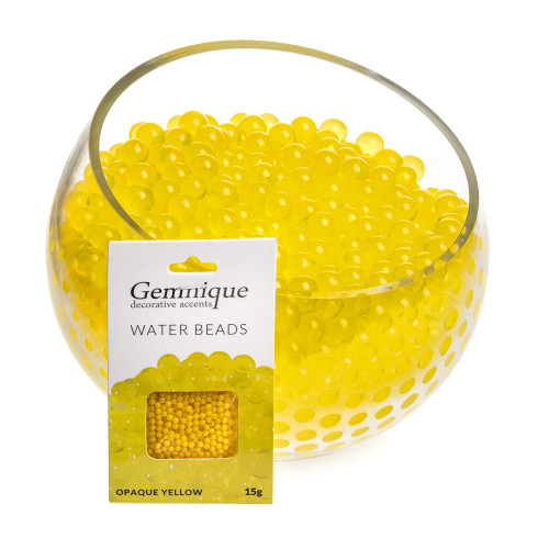 Yellow Opaque Gemnique Water Beads