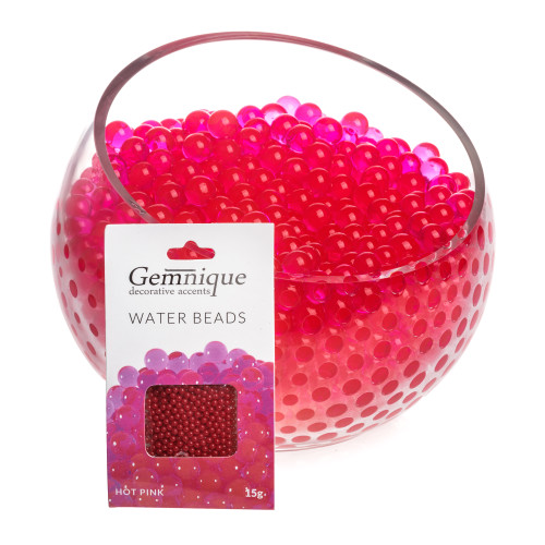 Hot Pink Gemnique Water Beads