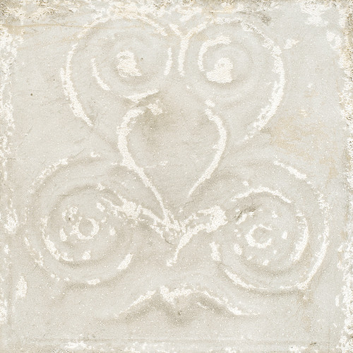 Giorbello Sassuolo Italian Tile in White Relief Design 1
