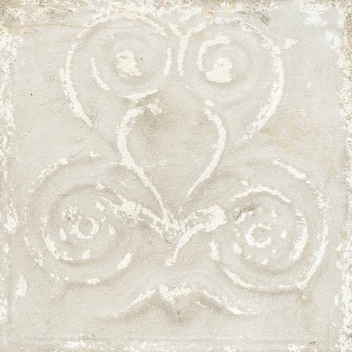 Giorbello Sassuolo Italian Tile in White Relief Design 1