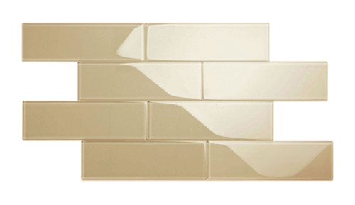 """Glass Subway Tile in Light Taupe - 4"""" x 12"""" (5 Sq. Ft.)"""