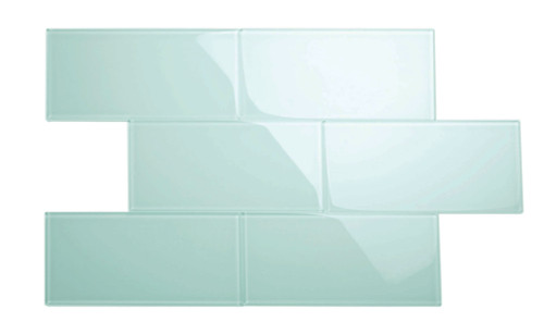 """Glass Subway Tile in Baby Blue - 6"""" x 12"""" (5 Sq. Ft.)"""