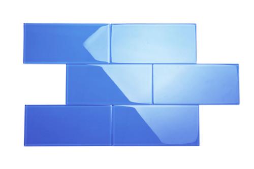 "Glass Subway Tile in Cobalt Blue - 6"" x 12"" (5 Sq. Ft.)"