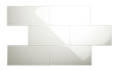 """Glass Subway Tile in Agreeable Gray - 6"""" x 12"""" (5 Sq. Ft.)"""