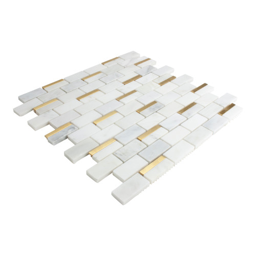 Side Angle View of Palace Marble White Tile