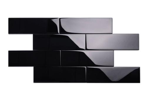 Giorbello Ceramic Subway Tile, 4 x 12, Black
