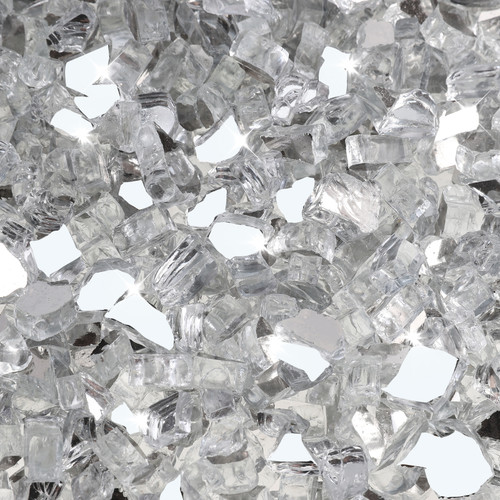 """Clear 1/2"""" Tempered Fire Glass"""