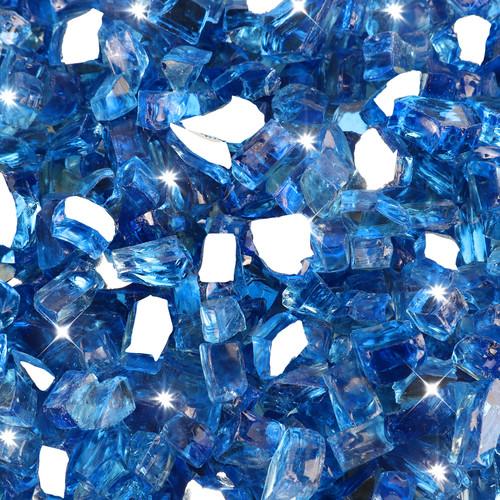 "Medium Blue 1/2"" Tempered Fire Glass"