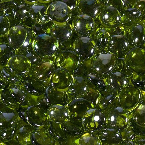 Glass Gems Bulk - Lime Green Luster (240 Oz.)