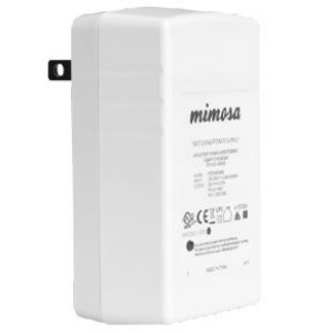 Mimosa Networks C5-POE-NA Compact Wall Plug Gigabit 48V Passive Power over Ethernet (PoE) Injector for C5 radios, NA version