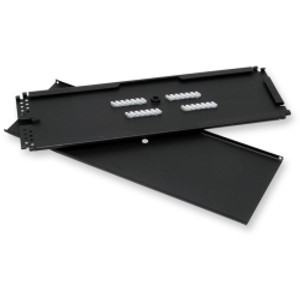 CORNING Single-Mode/MM splice tray, holds 24 Lightlinker or heat shrink splices, or 24 heat-shrink mass fusion splices. Type 4S wide.