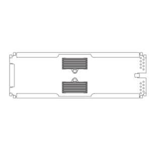CORNING Splice tray, Type 2S, 24f fusion splices, 18 per tray actual.