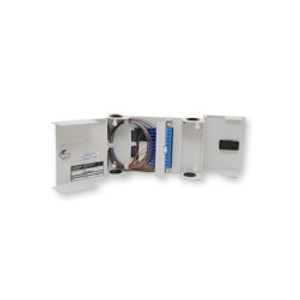 CORNING 12 fiber wall mount building terminal. Accepts LDC panels and splice trays.