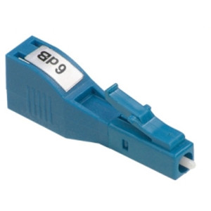 AFL 6dB buildout style attenuator. LC/UP (Male to Female)