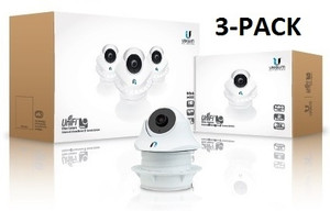 3-pack UniFi Video Camera DOME with IR, 720p, Microphone, Adj Mtng Hdwr, PoE by Ubiquiti Networks