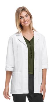 Cherokee Three Quarter Sleeve Antimicrobial Lab Coat