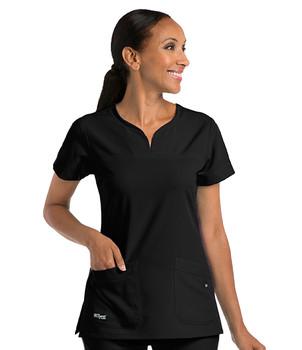 Grey's Anatomy Signature : 2121 Stretch V Neck 2 Pocket Scrub Top For Women*