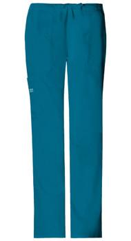 Cherokee Core Stretch 4044 : Elastic Waist Drawstring Cargo Scrub Pants For Women*