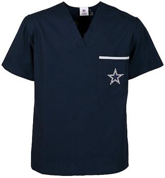 Dallas Cowboys V Neck NFL Scrub Top