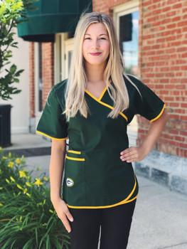 Green Bay Packers Women's NFL Scrub Top