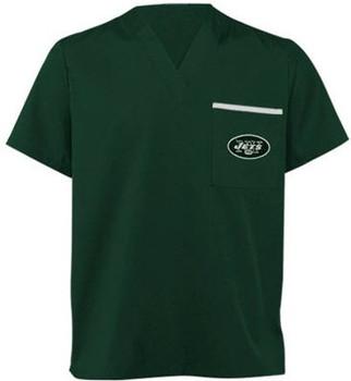 New York Jets V Neck NFL Scrub Top