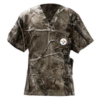 Pittsburgh Steelers Men's NFL Real Tree Scrub Top