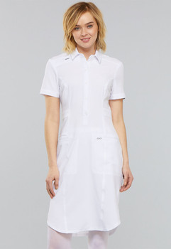 Infinity Antimicrobial : Button Front Scrub Dress*