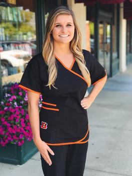 Cincinnati Bengals Women's NFL Scrub Top