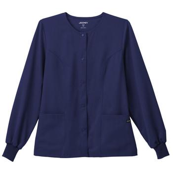 Jockey Women's Snap Front Scrub Jacket with Cuffed Sleeves*