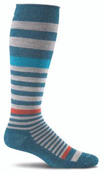 Sockwell Orbital Compression Sock in Teal