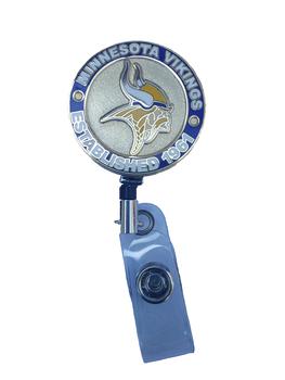 Minnesota Vikings Retractable Badge Reel