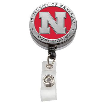 Nebraska Retractable Badge Reel