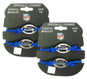 Seattle Seahawsk Stretch Bracelet / Hair Tie