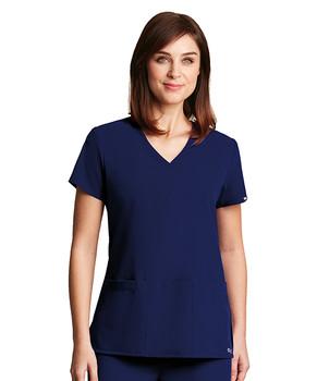 Grey's Anatomy Signature : Stretch 3 Pocket V Neck Scrub Top For Women*